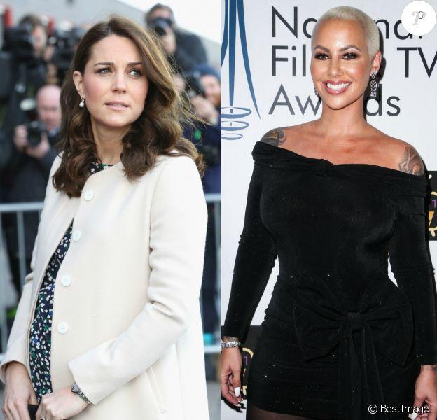 Kate Middleton et Amber Rose, toutes deux malades durant leurs grossesses.