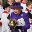 La reine Elisabeth II d'Angleterre - Départ des participants à la messe en l'honneur de la journée du Commonwealth à l'abbaye de Westminster à Londres le 11 mars 2019.