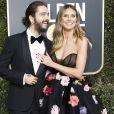 Heidi Klum et son fiancé Tom Kaulitz au photocall de la 76ème cérémonie annuelle des Golden Globe Awards au Beverly Hilton Hotel à Los Angeles, le 6 janver 2019.