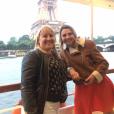 """Julie et Nathalie - Les candidats de la saison 12 de """"L'amour est dans le pré"""", diffusée en 2017, se retrouvent pour le tournage d'un numéro de """"Que sont-ils devenus ?"""", tourné à Paris en juin 2019."""