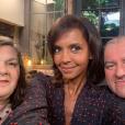 """Karine Le Marchand entourée de Jean-Marc et François de """"L'amour est dans le pré"""" saison 12 (M6), le 4 juin 2019 sur Instagram."""