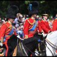 Le prince Charles, le prince William, le prince Andrew et la princesse Anne lors de la parade Trooping the Colour 2019 à Londres le 8 juin 2019.