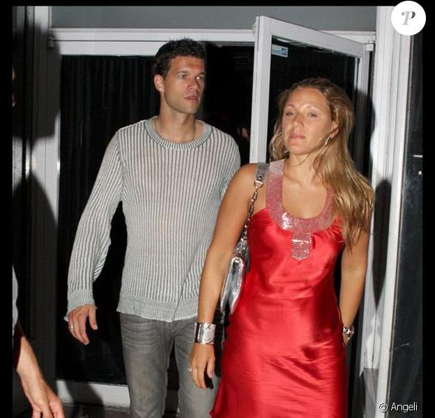 Michael Ballack et sa femme Simone Lambe, dans la boîte de nuit Mint, à Miami, en juin 2009 !