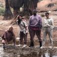 Khloé Kardashian, Kourtney et ses deux enfants Mason et Reign, Kim Kardashian et Kanye West. Mai 2019.