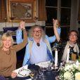 Exclusif - Chantal Ladesou, Pierre-Jean Chalençon et Catherine Frot - Dîner privé chez Pierre-Jean Chalençon au palais Vivienne à Paris, France, le 7 juin 2019. © Philippe Baldini/Bestimage