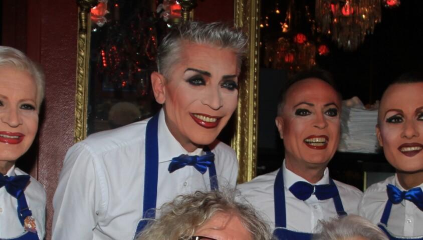 Exclusif - Pierre-Jean Chalençon et Michou (Michel Catty) dand le cabaret Chez Michou à Paris, France, le 2 juin 2019. © Philippe Baldini/Bestimage