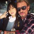 Johnny Hallyday avec sa fille Jade sur Instagram, le 1er mai 2013.