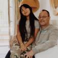 Jade Hallyday a reetrouvé son parrain Jean Reno à Lectoure, dans le Gers. Photo publiée sur Instagram le 19 juin 2019.