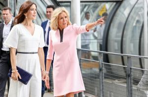 Brigitte Macron et Mary de Danemark : Chic rose et blanc pour aller au musée