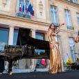 Le groupe Brigitte avec Aurélie Saada et Sylvie Hoarau à la Fête de la Musique au Palais de l'Elysée. Paris, le 21 juin 2019. © Xavier Popy / Pool / Bestimage