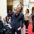 """Sophie Broustal - Défilé """"Over Fifty... et alors !"""" à la galerie Vivienne à Paris le 17 Juin 2019. C'est sous les ors de la galerie Vivienne que la styliste Nathalie Garçon, initiatrice de l'association """"Over fifty...et alors"""", a organisé un défilé de mode afin de faire évoluer la visibilité et le regard porté sur les femmes de plus de cinquante ans. © Dominique Jacovides/Bestimage"""