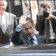 Nicolas Sarkozy lors du mariage de Mathilde Agostinelli et Antoine Meyer le 23 juin 2009 à Paris dans la mairie du XVIe arrondissement.