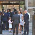 Mathilde Agostinelli et Antoine Meyer lors de leur mariage le 23 juin 2009 à Paris dans la mairie du XVIe arrondissement.