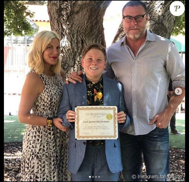 Tori Spelling et Dean McDermott défendent leurs enfants, harcelés sur leur physique sur les réseaux sociaux. Le 24 juin 2019.