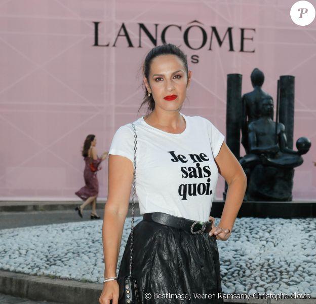 Elisa Tovati assiste à la soirée de présentation du parfum Idole de Lancôme, incarné par Zendaya, au Palais d'Iena à Paris. Le 2 juillet 2019. © Veeren Ramsamy-Christophe Clovis/Bestimage