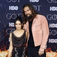 "Jason Momoa, Lisa Bonet à la première de ""Game of Thrones - Saison 8"" au Radio City Music Hall à New York, le 3 avril 2019."