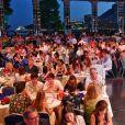 """Une vue générale  - Traditionnelle soirée au profit de Fight Aids Monaco, dans la salle des Etoiles du Sporting à Monaco le 13 juillet 2019. Cette année, l'association de la princesse Stéphanie de Monaco, fête ses 15 ans. C'est le célèbre groupe américain The Beach Boys, tout droit venu de Californie, qui assure le Show au profit de l'association. Les membres de la famille princière, le prince Albert II de Monaco en tête, ainsi que l'ensemble du public, n'ont pas hésité à se mettre en mode """"Beach Boys"""". © Bruno Bebert/Bestimage"""
