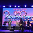 """The Beach Boys avec leurs leaders Brian Wilson, au clavier, et Mike Love, au chant  - Traditionnelle soirée au profit de Fight Aids Monaco, dans la salle des Etoiles du Sporting à Monaco le 13 juillet 2019. Cette année, l'association de la princesse Stéphanie de Monaco, fête ses 15 ans. C'est le célèbre groupe américain The Beach Boys, tout droit venu de Californie, qui assure le Show au profit de l'association. Les membres de la famille princière, le prince Albert II de Monaco en tête, ainsi que l'ensemble du public, n'ont pas hésité à se mettre en mode """"Beach Boys"""". © Bruno Bebert/Bestimage"""