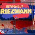 Antoine Griezmann, nouvelle recrue du FC Barcelone, en séance photo à Barcelone, le 14 juillet 2019.