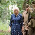 """Camilla Parker Bowles, duchesse de Cornouailles, en visite à la """"Royal Air Force Halton"""" à Aylesbury à l'occasion du centenaire de la base. Le 11 juillet 2019"""