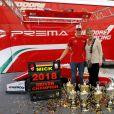 Mick Schumacher avec sa mère Corinna Schumacher, FIA Formula 3 European Championship, round 10, à Hockenheim le 14 octobre 2018.