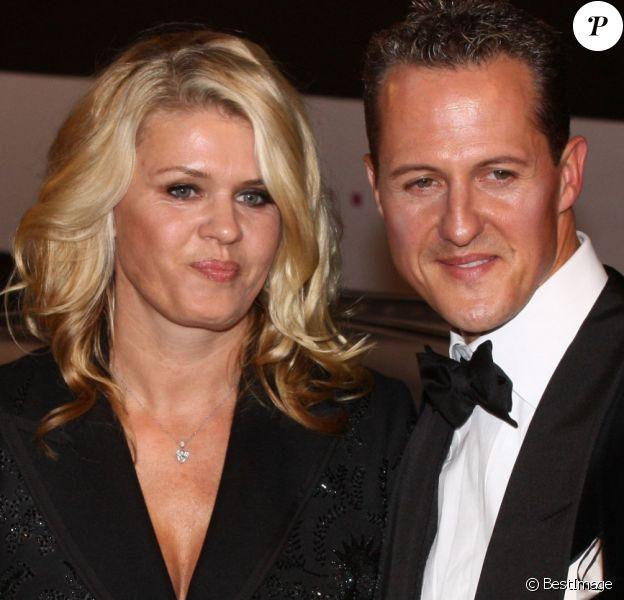 Michael Schumacher et sa femme Corinna lors de la soiree GQ a Berlin en Allemagne le 29 octobre 2013.