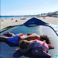 Laura Tenoudji partage une photo de ses vacances en famille, le 16 juillet 2019.