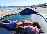Laura Tenoudji : Première photo de ses enfants Milan et Bianca à la plage