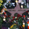 L'étoile de Michael Jackson sur le Boulevard de la gloire à Hollywood le 26 juin 2009