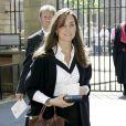 Kate Middeton lors de sa remise de diplôme à l'Université de St Andrews en Ecosse, en 2005. La future duchesse portait un sac Longchamp.
