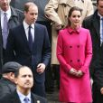 "Catherine Kate Middleton (enceinte, en manteau Mulberry) et le prince William visitent la fondation ""The Door/City Kids"" lors de leur voyage officiel à New York, le 9 décembre 2014."