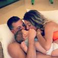 Camille Schneiderlin (Koh-Lanta), son mari le footballeur Morgan Schneiderlin et leur fils Maé, né le 10 octobre 2018.