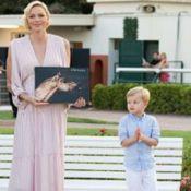 Charlene de Monaco : Épaules joliment dénudées pour une sortie avec Jacques