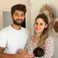 Jesta et Benoît (Koh-Lanta 2016) heureux autour de Juliann, le 20 juillet 2019.