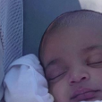Kim Kardashian et son fils Psalm sur Instagram.
