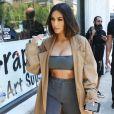 Kim Kardashian se promène à Los Angeles, le 10 juillet 2019.
