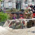 Le prince Laurent et la princesse Claire de Belgique - La famille royale de Belgique assiste à la parade militaire à l'occasion de la fête Nationale belge, le 21 juillet 2019.  Belgium royal family attend the Military Parade at the National Day. Belgium, Brussels, 21 July 2019.21/07/2019 - Bruxelles