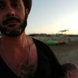 Emanuele Giorgi et son fils, le 24 juillet 2019