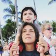 Estelle Denis souhaite un joyeux anniversaire à son fils Merlin, 12 ans, sur Instagram. Le 25 juillet 2019.