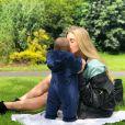 Maria Salaues, compagne de Paul Pogba, posant avec leur fils sur Instagram le 13 juillet 2019