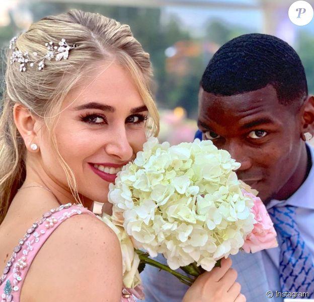 Paul Pogba et Maria Salaues, photo partagée sur le compte Instagram de Maria le 24 juin 2019.