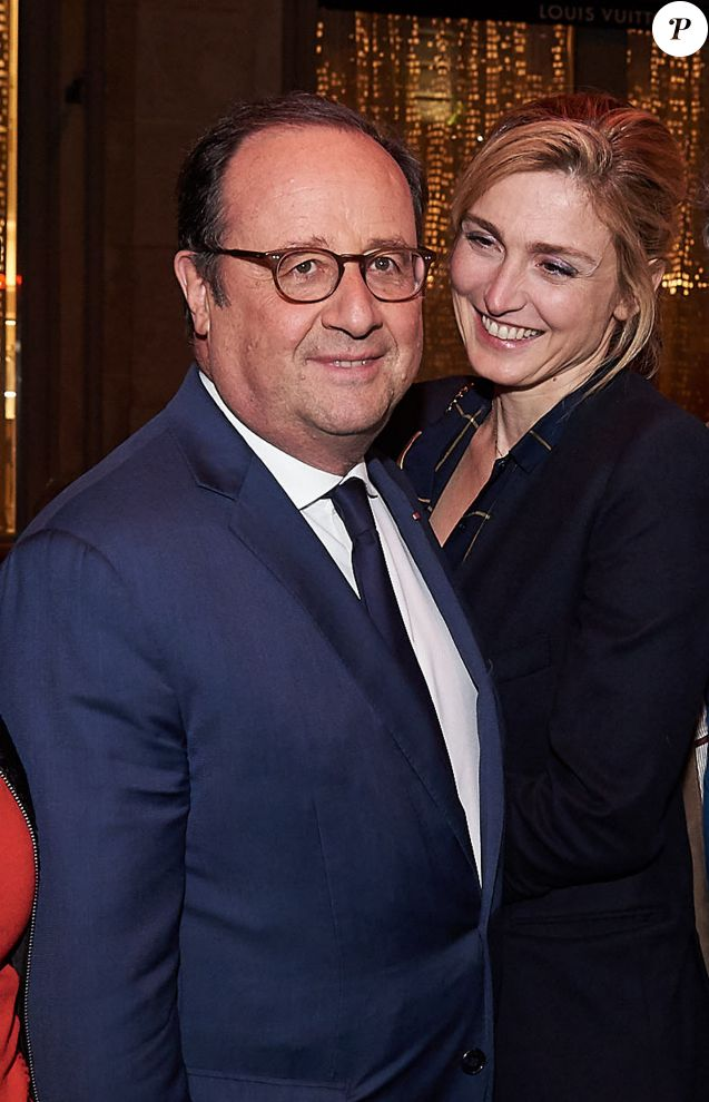 "François Hollande et sa compagne Julie Gayet - After-party de la saison 3 de la série ""10 pour cent"" au Montana à Paris le 25 Avril 2018 © Damien Boisson-Berçu via Bestimage"