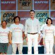 Le roi Felipe VI d'Espagne lors de la cérémonie de remise des trophées de la 38e édition de la Copa del Rey à Palma de Majorque le 3 août 2019.