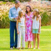 Letizia, Felipe, Leonor et Sofia d'Espagne : A Marivent, le bonheur dans le pré