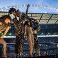 """Melanie Brown (Mel B) - Les Spice Girls en concert au Stade de Wembley dans le cadre de leur tournée """"Spice World UK Tour"""". Londres, le 20 juin 2019."""
