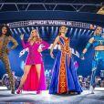 """Geri Halliwell, Melanie Brown (Mel B), Melanie Chisholm (Mel C) et Emma Bunton - Les Spice Girls en concert au Stade de Wembley dans le cadre de leur tournée """"Spice World UK Tour"""". Londres, le 20 juin 2019."""