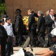 Les bouleversantes obsèques de Farrah Fawcett, qui se sont déroulées en la cathédrale Notre-Dame-des-Anges, à Los Angeles, le 29 juin 2009.