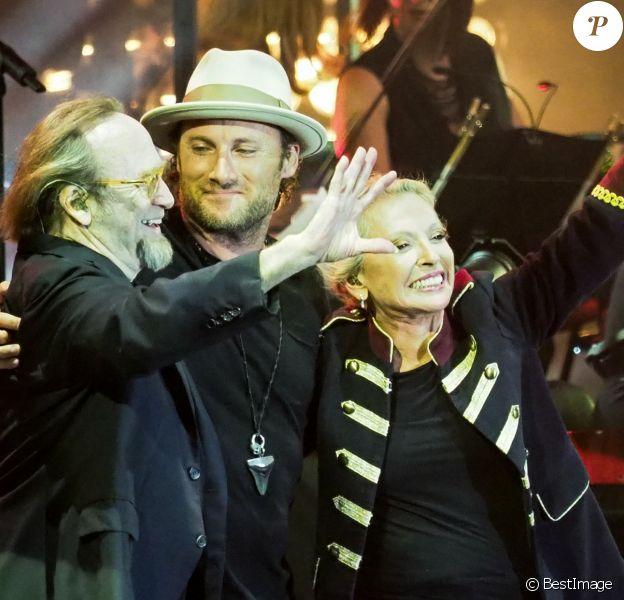 Stephen Stills et Christopher Stills - Véronique Sanson en concert pour l'ouverture du festival des Francofolies de La Rochelle, le 11 juillet 2018.