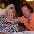 Exclusif - Nicoletta et son mari Jean-Christophe Molinier - Soirée Marcel Campion au restaurant La Bouillabaisse Plage de Saint-Tropez, France, le 7 août 2019. © Rachid Bellak/Bestimage
