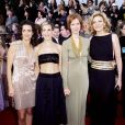 Kristin Davis, Sarah Jessica Parker, Cynthia Nixon et Kim Cattrall aux Guild Awards, Los Angeles, le 12 mars 2001.